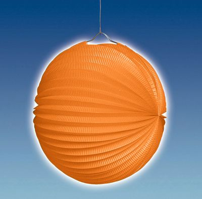 Lampion 25 cm Ø, orange